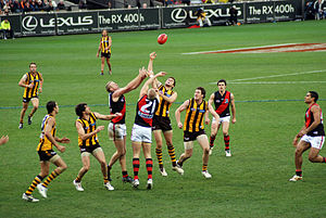 File:Stoppage in an AFL game.jpg