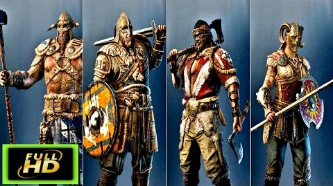 For Honor Vikings Cutscenes The Raiders - The Warlords - The Berserkers The Valkyries