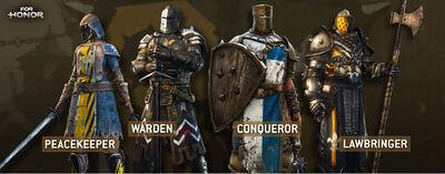 For Honor Peacekeeper Warden Conqueror Lawbringer