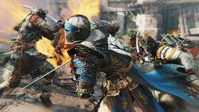 Two samurai vs knight - for honor