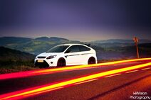 White Ford Focus RS Stage 1