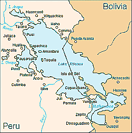 Tn Lake Titicaca map