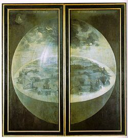 Hieronymus Bosch - The Garden of Earthly Delights - The exterior shutters