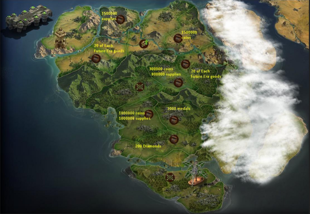 Contemporary era forge of empires map revealed