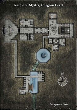 Temple of Mystra - dungeon level