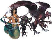 Monster Manual 4e - Marilith, mazzodemon, vrock - p57 - Sam Wood