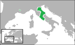 Map of the Papal States