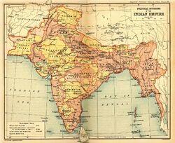 Map of British India