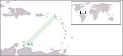 Location of the Netherlands Antilles