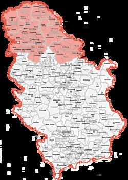 Map of Vojvodina