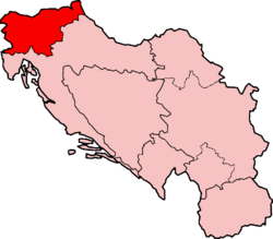 Map of SFRY Slovenia