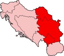 Map of SFRY Serbia