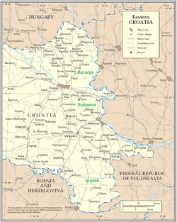 Map of Eastern Croatia