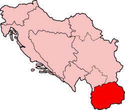 Map of SFRY Macedonia