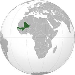 Map of Mali Federation