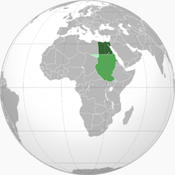 Map of Egypt-Sudan