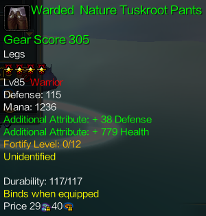 ItemWardedNatureTuskrootPantsDescription