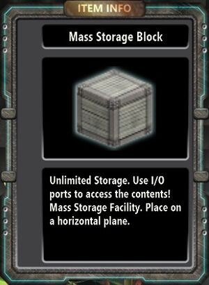 Mass Storage Block
