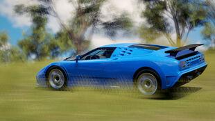 The Bugatti EB110 Super Sport in Forza Horizon 3