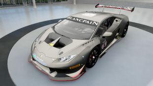 The Lamborghini #63 Squadra Corse Huracán LP620-2 Super Trofeo in Forza Horizon 3