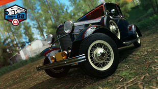 The 1932 Ford De Luxe Five-Window Coupe in Forza Horizon 3.