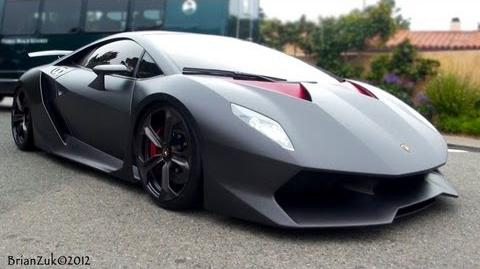 Lamborghini Sesto Elemento - Start Ups and On Road