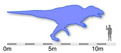 Acrocanthosaurus size comparison