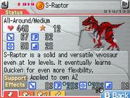 S-Raptor Max Stats FF
