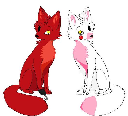 File:Foxy and Mangle real foxes.jpg