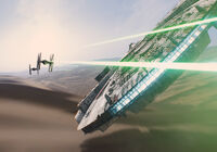 Faucon Millenium et Chasseur TIE Teaser Star Wars 7.jpg
