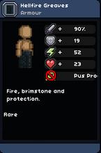 Hellfire greaves