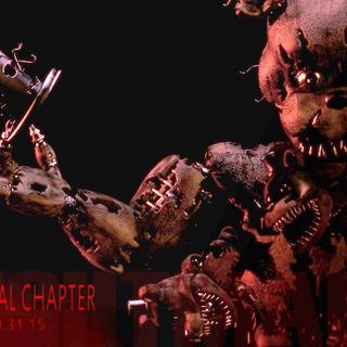 Nightmare Freddy's teaser, brightened.