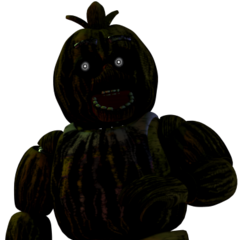 Phantom Chica as she appears in the Extra Menu.