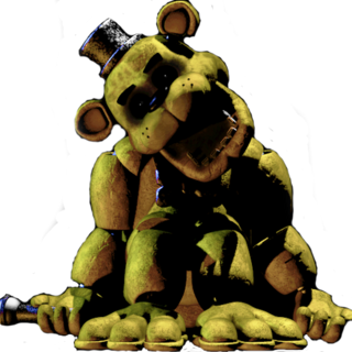 Texture of Golden Freddy in The Office, brightened.