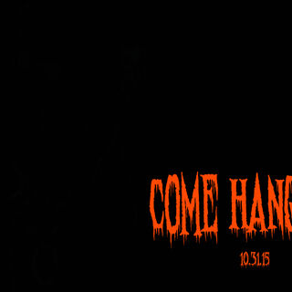 The fourth teaser of the Halloween update featuring a bloody orange font text reading