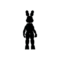 Shadow Bonnie figurine that appears in the Office on Night 5.