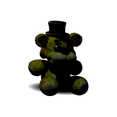 Plushie of Golden Freddy from <i>Five Nights at Freddy's 2</i>. This plush can be obtained by completing the 'Golden Freddy' preset on the Custom Night.