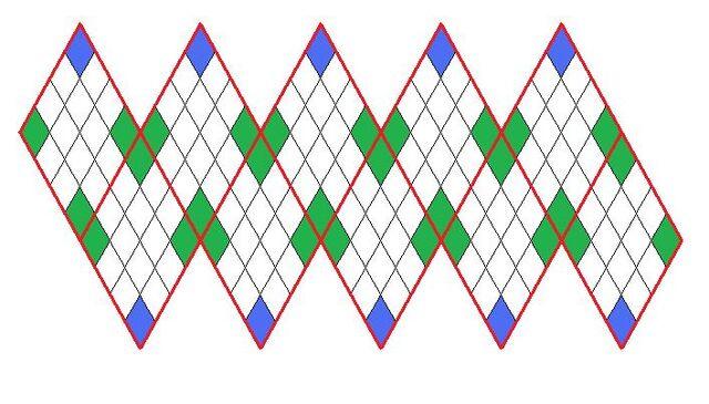 File:Icosahedron net tiled with indicators for irregularity.jpg
