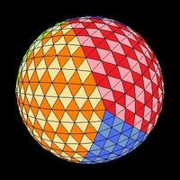 Icosahedron colored tilt