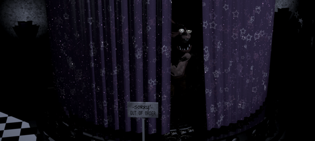 File:Foxy Looking Out From His Curtains.png