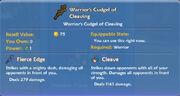 Warrior's Cudgel of Cleaving item