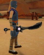 Ninja's Shadow Blade of Dragon Breath held