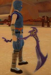 Ninja's Jagged Scythe of Shadow Armies held