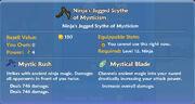 Ninja's Jagged Scythe of Mysticism item