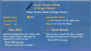 Ninja's Shadow Blade of Dragon Breath item