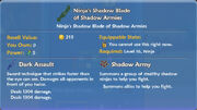Ninja's Shadow Blade of Shadow Armies item