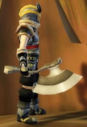 Warrior's Axe of Spinning held