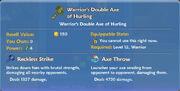 Warrior's Double Axe of Hurling item
