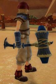 Warrior's Battle Hammer of Earthquake held