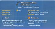 Wizard's Bone Wand of Firestorm item